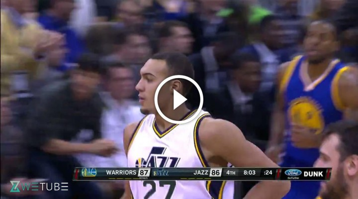 Rudy Gobert alley-oop et block
